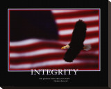 Patriotic Integrity Stretched Canvas Print