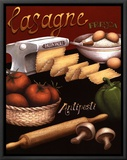 Lasagna Framed Canvas Print by Daphne Brissonnet