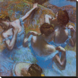 Blue Dancers Stretched Canvas Print by Edgar Degas