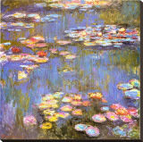 Water Lilies, 1916 Stretched Canvas Print by Claude Monet