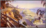 Pacific Coast Highway II Framed Canvas Print by John Comer