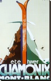 Verão, inverno, Chamonix, Mont-Blanc Impressão em tela esticada por Henry Reb