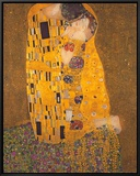 The Kiss, c.1907 Framed Canvas Print by Gustav Klimt