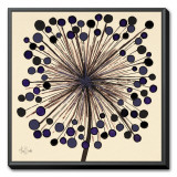 Lilac Bubble Flower Framed Canvas Print by Alan Buckle