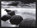 Boulders on the Beach Framed Canvas Print