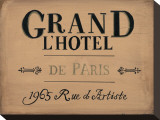 Grand l'Hotel Stretched Canvas Print