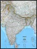 Map of India Framed Canvas Print