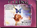 Caring Stretched Canvas Print