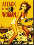 Attack of the 50 Foot Woman Stretched Canvas Print