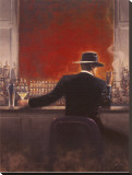 Cigar Bar Stretched Canvas Print by Brent Lynch