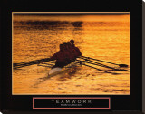 Teamwork: Rowers Stretched Canvas Print