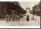 1975 Tour Finish on the Champs Elysees Stretched Canvas Print