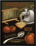 Spaghetti Framed Canvas Print by Daphne Brissonnet