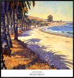 Refugio Beach Framed Canvas Print by John Comer
