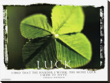 Luck Stretched Canvas Print