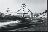 Golden Gate Fishermen, San Francisco Stretched Canvas Print