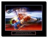 Opportunity: Soccer Stretched Canvas Print by Bill Hall