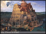 The Tower of Babel, c.1563 Framed Canvas Print by Pieter Bruegel the Elder