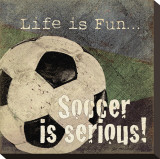 Soccer Stretched Canvas Print by Jo Moulton