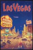 Las Vegas, Nevada Framed Canvas Print by Kerne Erickson