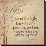 Enjoy The Little Things Stretched Canvas Print by Karen Tribett