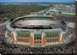 Green Bay Packers - New Lambeau Field Stretched Canvas Print by Mike Smith
