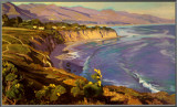 Point Dume Cove Framed Canvas Print by John Comer