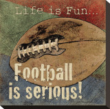 Football Stretched Canvas Print by Jo Moulton