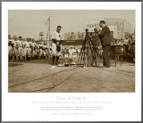 Lou Gehrig, the Luckiest Man on the Face of This Earth Framed Canvas Print
