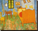 The Bedroom at Arles, c.1887 Impresso em tela esticada