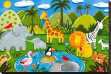 Jungle Fun Stretched Canvas Print by Sophie Harding