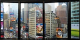 Times Square, New York Framed Canvas Print by Torsten Hoffman