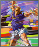 Drive: Softball Framed Canvas Transfer por Bill Hall
