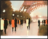 Paris Remembered Framed Canvas Print by Lorraine Christie