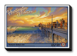 Huntington Beach Stretched Canvas Print by Kerne Erickson