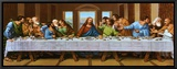 Last Supper Framed Canvas Print by  Tobey