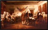 The Declaration of Independence Framed Canvas Print by John Trumbull