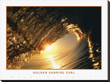 Golden Sunrise Curl Stretched Canvas Print