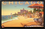 Chicago and Southern Air Framed Canvas Print by Kerne Erickson