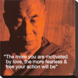 Dalai Lama: Fearless &amp; Free Stretched Canvas Print