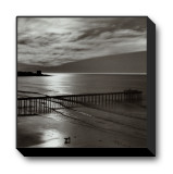 The Scripps Pier, 1966 Stretched Canvas Print by Ansel Adams