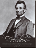 Freedom: Abraham Lincoln Stretched Canvas Print