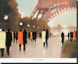 Paris Remembered Stretched Canvas Print by Lorraine Christie