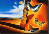 Landscape with Butterflies Stretched Canvas Print by Salvador Dal&#237;