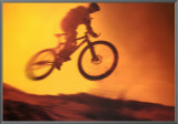 Challenge: Mountain Bike Framed Canvas Print
