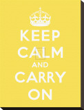 Keep Calm and Carry On Stretched Canvas Print