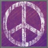 Purple Peace Framed Canvas Print by Louise Carey
