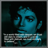 Michael Jackson: Believe Framed Canvas Print