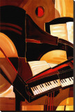 Abstract Piano Stretched Canvas Print by Paul Brent
