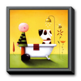 Bathtime Framed Canvas Print by Jo Parry